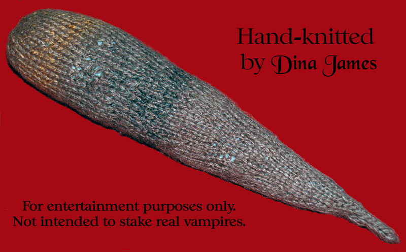 Knitted Vampire Stake