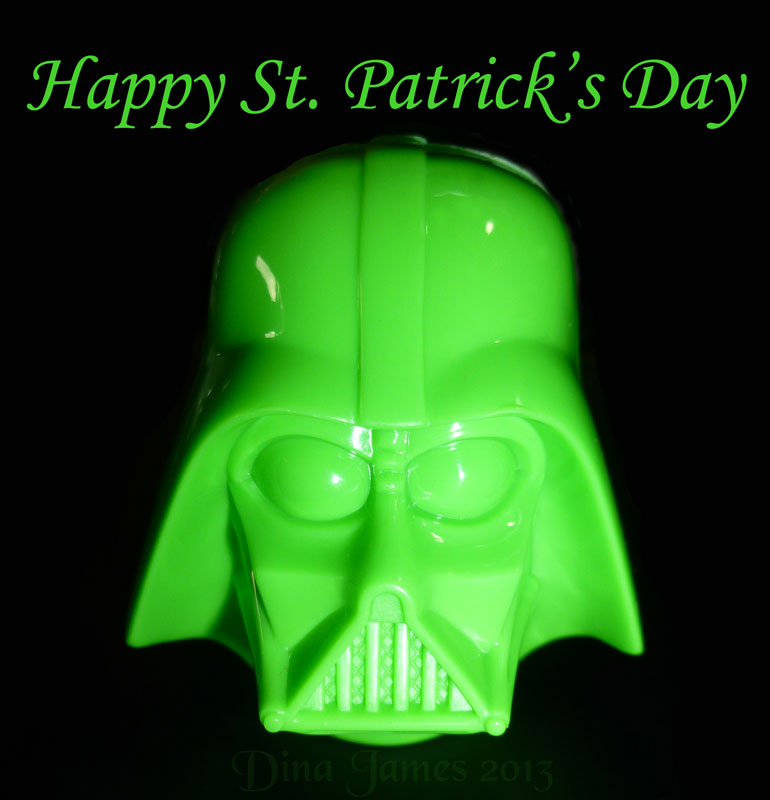 Here, I made this. Don't ever say I never did anything for you. Even Lord Vader wears green on St. Patrick's Day.